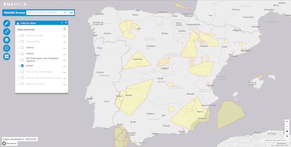 visualizacion de los NOTAM activos en España
