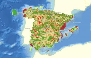 mapa con zonas zepa y zonas lic en españa
